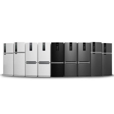 Geladeira Brastemp Frost Free Duplex 462 litros cor Inox com Turbo Control