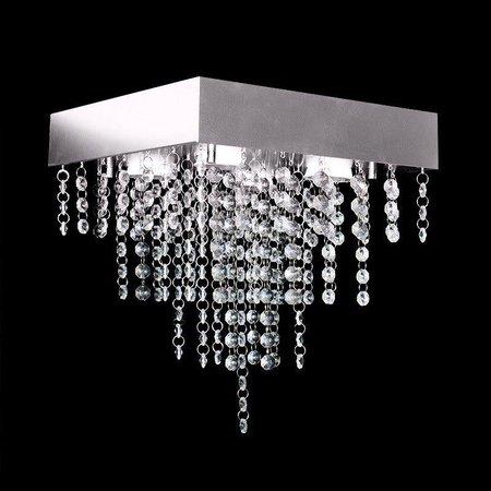 Lustre de Acrílico Pirâmide para 4 Lâmpadas GU10