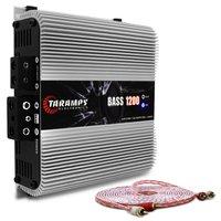 Módulo Amplificador Taramps BASS 1200 1200W RMS 1 Canal 2 Ohms Classe D + Cabo RCA Stetsom 5M 2mm²