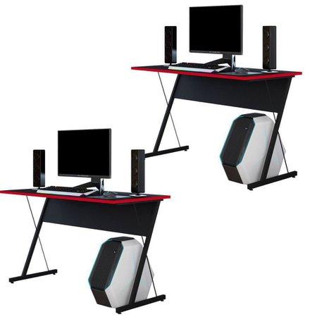 Kit 02 Mesas Para Computador Notebook PC Gamer Kombat - Lyam Decor