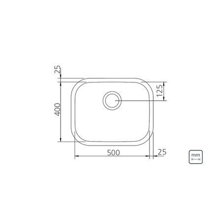 Cuba Tramontina Aria Maxi Plus em Aço Inox Polido 50 x 40 x 24 cm