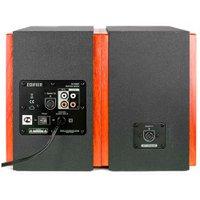 Caixa de som Monitor de Áudio Edifier R1700BT 2.0ch DSP DRC Bluetooth 66W RMS Bivolt Madeira