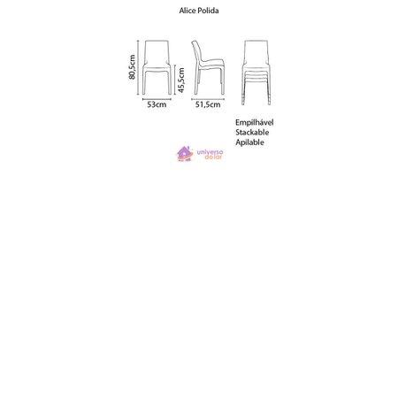 Cadeira Tramontina Alice Polida em Polipropileno Amarelo
