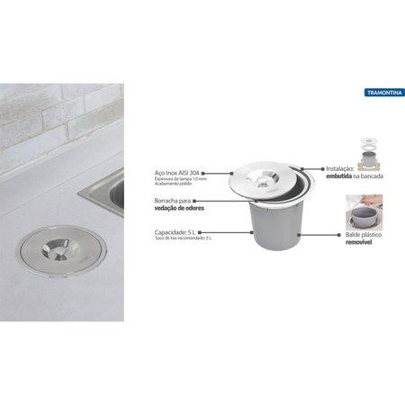 Lixeira de Embutir Clean 5 Litros Tramontina 94518005