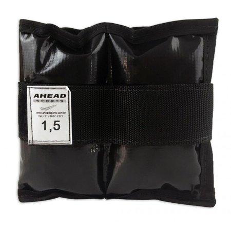 Caneleira de peso Ahead Sports AFF335 1,5kg Preta