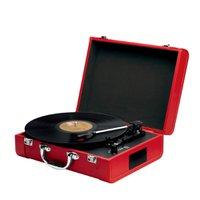 Toca Discos Nostalgic Disco Goldship Bateria Interna/Bluetooth Vermelho Bivolt