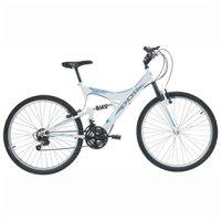 Bicicleta Full Suspension Kanguru 18 Velocidades Aro 26 Branco Polimet 7002