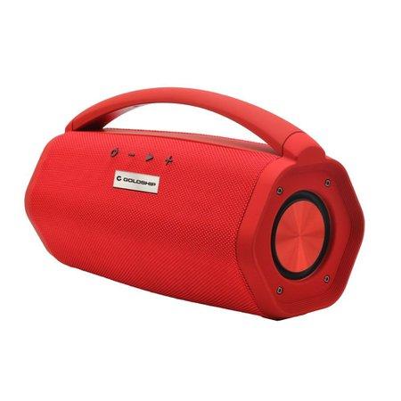 Caixa de Som Aqua Boom Speaker Ipx7 Goldship Bateria Interna/Bluetooth Vermelha