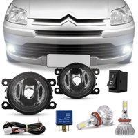 Kit Farol de Milha Citroen C4 Hatch Pallas 07 a 12 C4 VTR 07 a 10 + Kit Super LED 3D H11 6000K