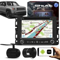 Central Multimídia Jeep Renegade 7 Pol Shutt Espelhamento USB e Wifi Android IOS BT GPS + Câmera Ré