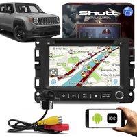 Central Multimídia Jeep Renegade 7 Pol Shutt Espelhamento Via USB e Wifi Android IOS BT GPS + Câmera