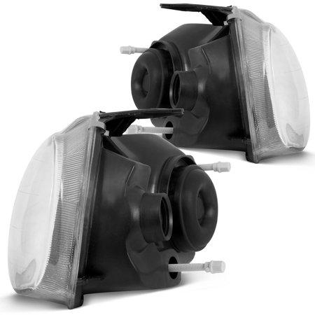 Par Farol Corsa Hatch Sedan Pick Up Classic 94 a 10 Máscara Negra + Lâmpada Super LED 3D 6000K
