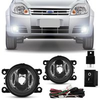 Kit Farol de Milha Ford Ka Hatch Sedan 2012 2013 2014 2015 2016 2017 Auxiliar Neblina