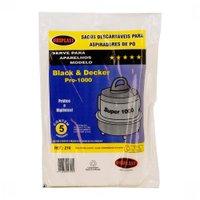 Kit 5 Sacos para Aspirador de Pó Black e Decker Pró Compatível