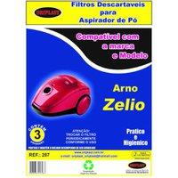 Saco para Aspirador de Pó Arno Zélio Descartável Compatível 3 Unidades