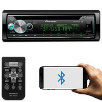 CD Player Pioneer DEH-X500BR Receiver 1 Din Bluetooth Interface Android iOS Mixtrax Spotify MP3 USB