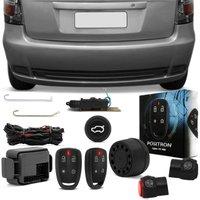 Kit Alarme Carro Pósitron Cyber FX360 Palio Fire Economy 2009 a 2014 + Travas Elétricas Porta Malas