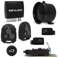 Kit Alarme Shutt Dual Tech Classic + Abertura Porta Malas Palio Economy 09 a 14 Abre Botão Alarme