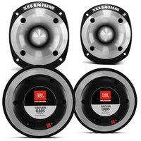 Kit 2 Drivers JBL Selenium D405 200W RMS + 2 Tweeters ST400 300W RMS