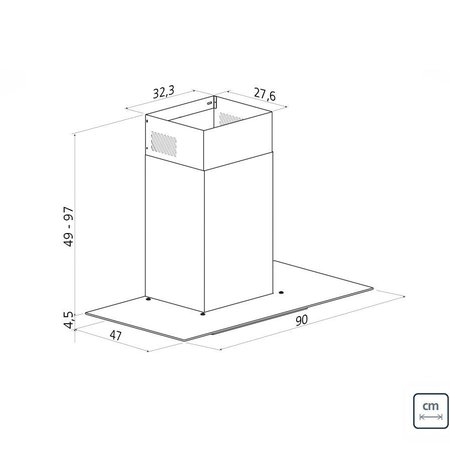 Coifa de Parede Tramontina Basic 90cm Inox 94811
