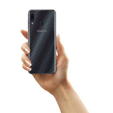 Película Traseira Fibra de Carbono Transparente para Samsung Galaxy A30 - Gorila Shield