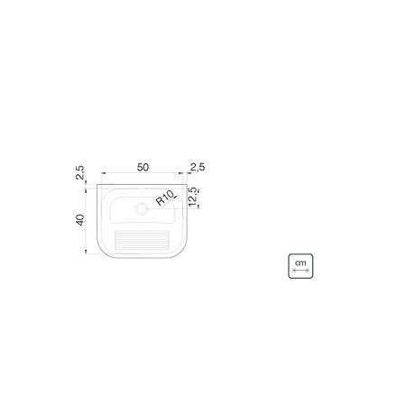Tanque de Parede Tramontina Hera Wall 30 L em Aço Inox Acetinado 50 x 40 cm