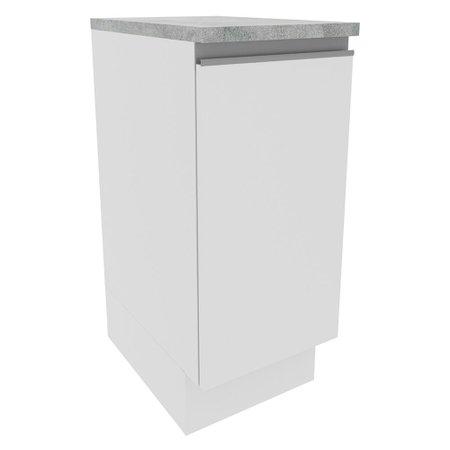 Balcão Madesa Glamy 35 cm 1 Porta - Branco