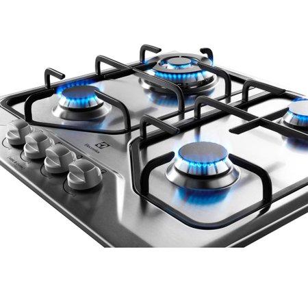Cooktop a Gás Electrolux 4 Queimadores GT60X Tripla Chama Inox