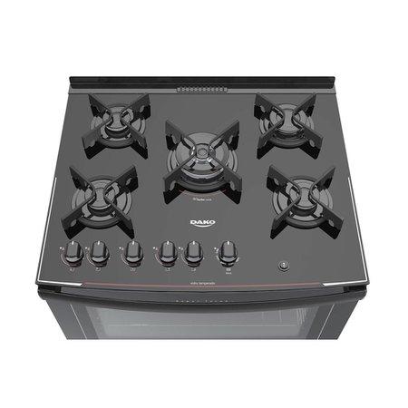 Fogão de Piso Dako Glass 5 Bocas DP5VU-PFO com Acendimento Automático