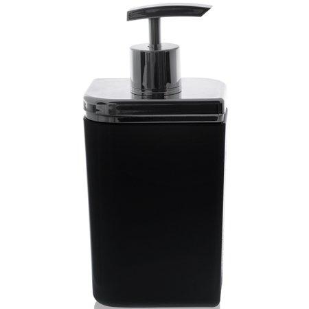 Conjunto Banheiro 4 Peças Sabonete Algodão Cotonete Escova Preto E Prata