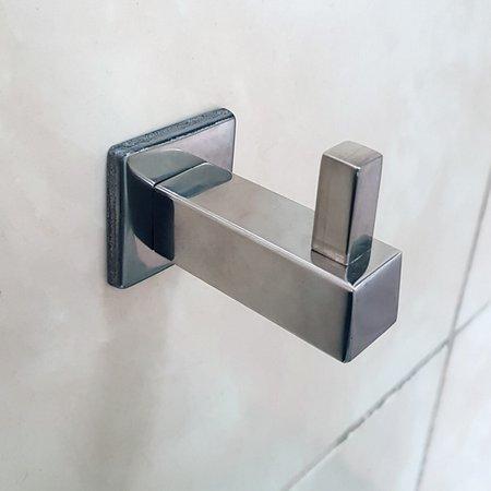 Gancho Cabide Multiuso Roupa Toalheiro Aço Inox Porta Toalha