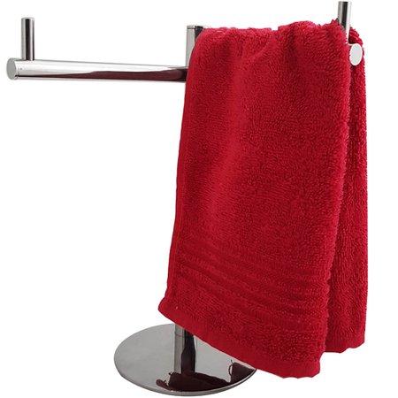 Porta Toalhas De Bancada Toalheiros Para Lavabo Pequeno Inox