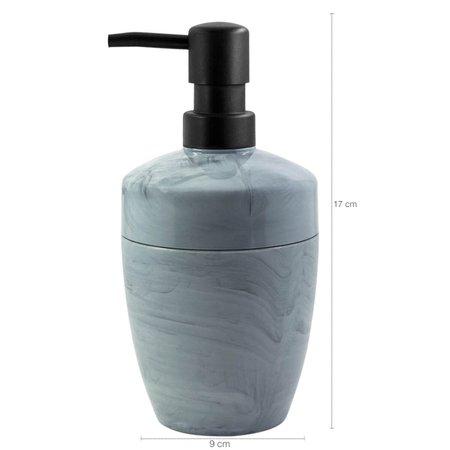 Kit Para Banheiro Acessórios Design Marmorizado De Plástico Concreto Fechado