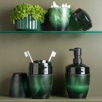 Porta Sabonete Saboneteira Liquida Efeito Vidro Fosco Ou Verde