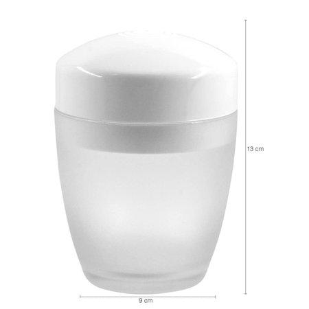 Kit 3 Acessórios De Banheiro Ou Plastico Design Vidro Fosco Branco