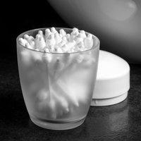 Kit De Banheiro Ou Plastico 4 Acessórios Design Vidro Fosco Branco