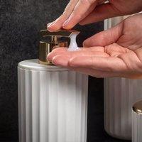 Conjunto De Acessórios Banheiro Lavabo 3 Peças Groove Ou Branco Fechado