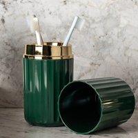 Conjunto De Acessórios Banheiro Lavabo 3 Peças Groove Ou Verde Botânico Fechado