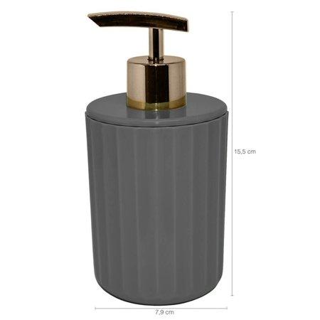Conjunto De Acessórios Banheiro Lavabo 3 Peças Groove Ou Chumbo Fechado