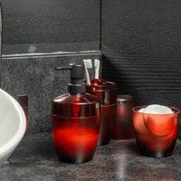 Porta Sabonete Saboneteira Liquida Efeito Vidro Fosco Ou Terracota