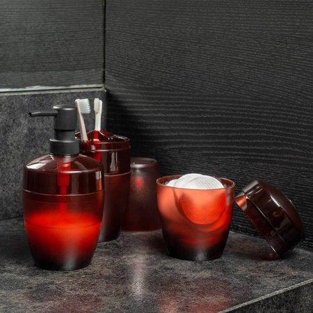 Kit 3 Acessórios De Banheiro Ou Plastico Design Vidro Fosco Terracota