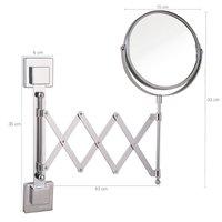 Espelho 300% Aumento Extensível Estende Sanfonado Ventosa
