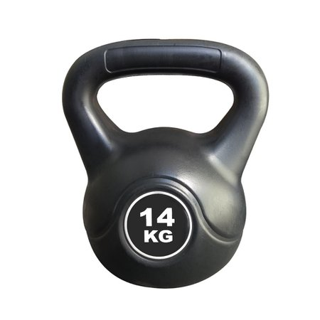 Kettlebell Black Cimento Ahead Sports AS2205 14 kg Preto