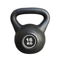 Kettlebell Black Cimento Ahead Sports AS2205 16 kg Preto
