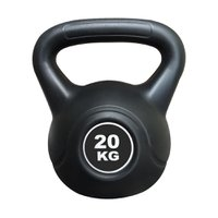 Kettlebell Black Cimento Ahead Sports AS2205 20 kg Preto