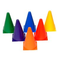 kit C/ 5 Cones de Agilidade 23 cm Ahead Sports Coloridos