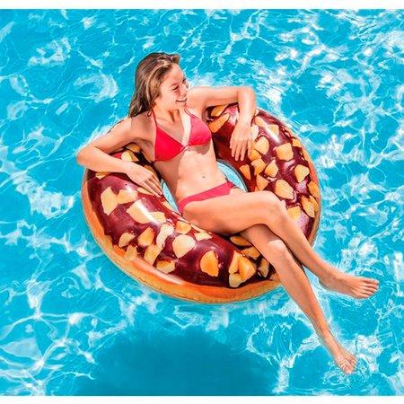 Bóia Inflável Redonda Donut de Chocolate - Intex