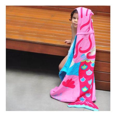 Toalha 3D Com Capuz Sereia - Baby Joy