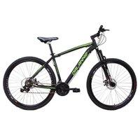 Bicicleta Aro 29 Alumínio 21V Freio a Disco Q17 Hole Preto com Verde