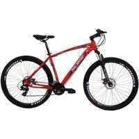 Bicicleta Aro 29 Alumínio 24V Duplo Freio a Disco Trail Vermelha
